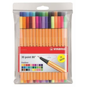 Stylos feutres STABILO Point 88 Lot X30