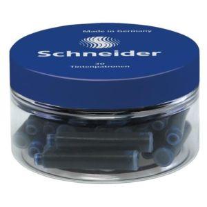 Pot de trente cartouches d'encre bleu pour stylo plume.